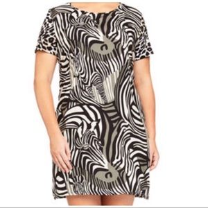Plus Size - Melissa Masse Animal Print Dress XXL